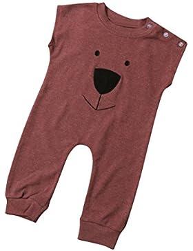 Bekleidung Longra Neugeborenes Baby Baby jungen Mädchen Sommer ärmellos Bär Strampler Overall Print Bodysuit Playsuit...