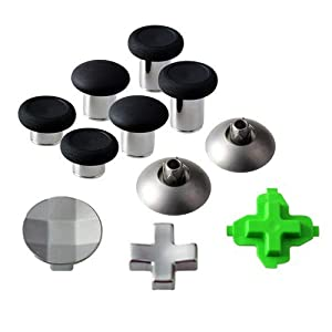 E-WOR Replacement Part Swap Thumbsticks Joysticks and D-Pads (11 pcs) for Xbox one Elite Controller