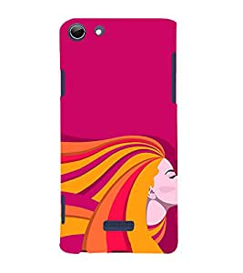 Clipart Girl 3D Hard Polycarbonate Designer Back Case Cover for Micromax Canvas Selfie 3 Q348