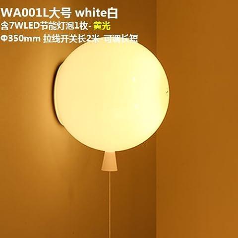 Qwer americano industrie rurali look rétro luci da parete WA001L-1 bianco di grandi dimensioni