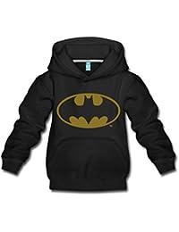 DC Comics Batman Logo Gold Kinder Premium Hoodie von Spreadshirt®