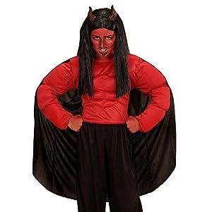WIDMANN wdm00637?Disfraz para niños demonio (140cm/8?10años), rojo, XS