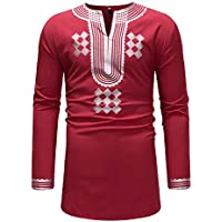 Camisetas para Hombre Camisa de Manga Larga Lujo Estampado de Estilo Nacional Africano Casual Moda Poleras Polo Remeras Streetwear Largo Blusas Impresión de Moda Gusspower