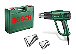 Bosch Heißluftgebläse PHG 630 DCE (Glasschutzdüse, Flächendüse, Kunststoffkoffer, 2.000 Watt)