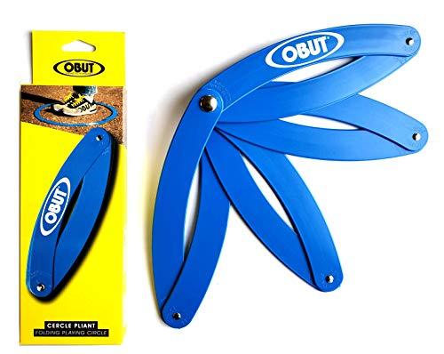 Cercle de pétanque pliant bleu marqué Obu