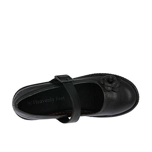 Heavenly Feet Womens Chaussures Vintage Noir Noir