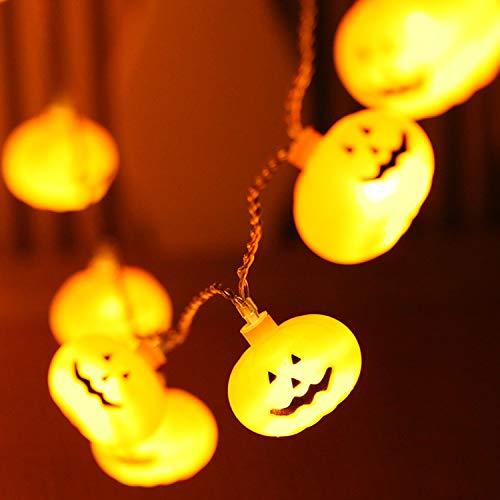 semen Halloween Dekos Set 20 Pcs Kürbis String Lichter Pumpkin LED Lichterkette Batterie Herbst Drinnen Draußen Batteriebetrieben Beleuchtung Dekoration Für Party Karneval Fashing