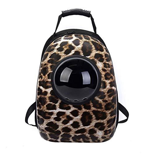 Pet Bag, Pet Backpack.Space Capsule Design, tragbare Tierbedarf, Katze und Katze Tragetaschen, tragbare Heimtierbedarf Puppy Carrier Bag.Pet Dog Cat Rucksack. (Farbe : Cheetah pattern)