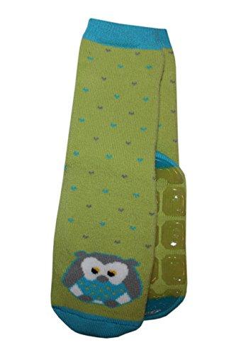 Weri Spezials Unisexe Bebes ABS-Turtle Hibou Pantoufle Chaussettes Vert 12-24 Mois (19-22)