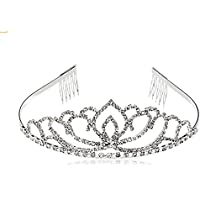 LAAT Crystal Bridal Headband Princesa corona Corona de plata del partido Vendas para nupcial
