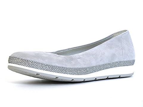 Gabor Damenschuhe 62.400.30 Damen Ballerinas, Mehrweite Grau (lightgrey(Glamour)), EU 5
