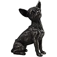 Statua in bronzo piccolo Chihuahua animali idea regalo h9.5 m
