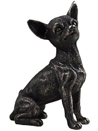 Chihuahua kleine kalt-gegossen Bronze-Statue Skulptur Haustier Geschenkidee Höhe 9,5cm