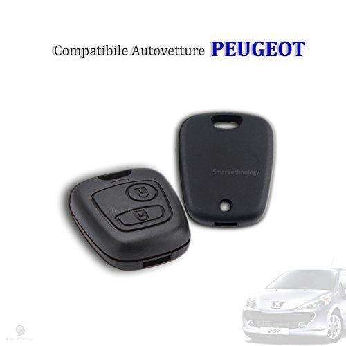 Guscio scocca cover per telecomando chiave autovettura peugeot 106 107 206 207 407 806 due tasti