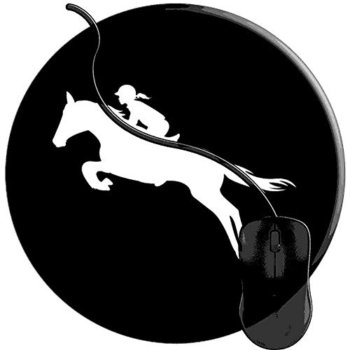 Computer Matte,English Riding Hunter Jumper Mädchenreitpferd Gaming Mouse Pad Rutschfeste Gummibasis Schreibtischmatte Mousepads Für Home Office Computer 20X20 Cm -