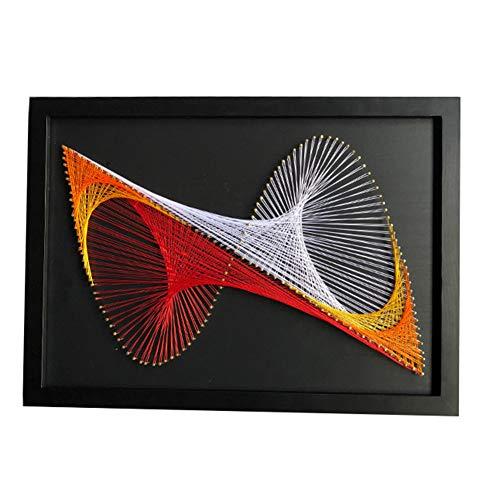 Geometrische Musterschnur-Kunstmalerei, Hauptdekorationwandbild DIY-Fadenwicklung Dekoratives Malerei-Materialpaket, Elternteilkind Manuelles Interaktives Spiel