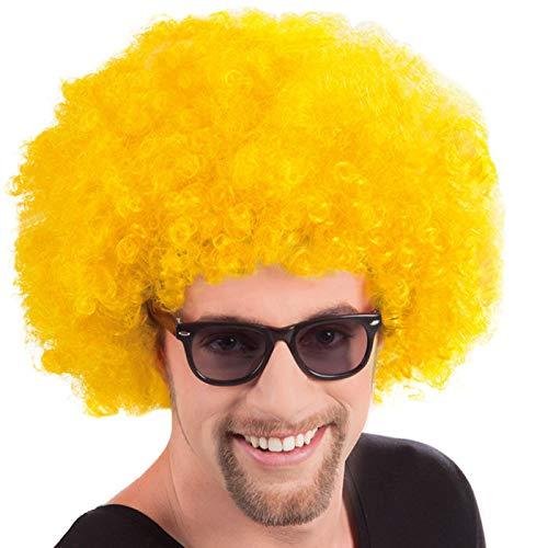 PARTY DISCOUNT® Perücke Super-Riesen-Afro, gelbe Locken (Super Party Perücken)