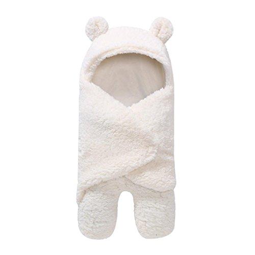 Neugeborenes Baby Faux Kaschmirdecken Upxiang Baby Wickeltisch Schlafen Wrap Decke Schlafsack Baby Boy Girl Fotografie Prop(0-1 Jahre alt) (Weiß)