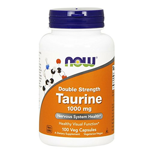 Now Foods, Taurin, Double Strength, 1000 mg, 100 Kapseln