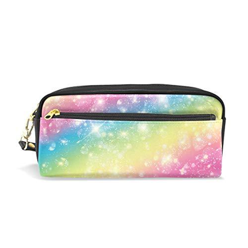 Stifteetui für Kinder, bunt, Regenbogenfarbene Sterne, große Kapazität, für Make-up, Kosmetik,...
