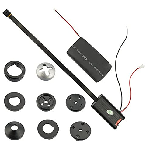 Spionagekamera CCTV T186 versteckte Kamera SpyCam zum Einbauen, Bausatz mit Fernbedienung von Kobert-Goods