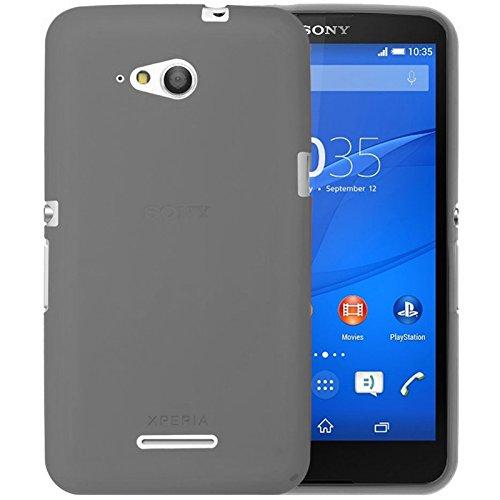 TBOC® Schwarz Gel TPU Hülle für Sony Xperia E4g E2003 E2006 E2053 Ultradünn Flexibel Silikonhülle
