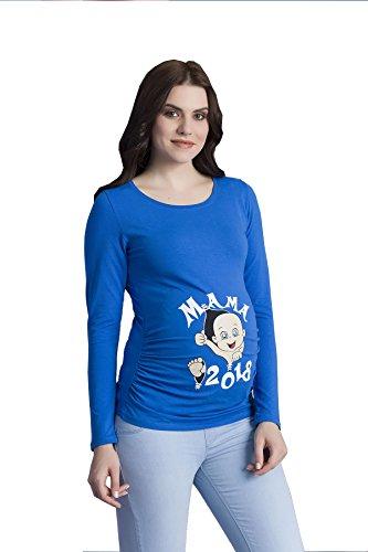 Verkauft von MamiMode Mama 2018 - Witzige Süße Umstandsmode T-Shirt mit Motiv Schwangerschaft, Langarm Dunkelblau