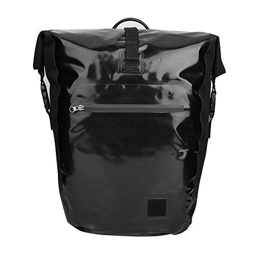 Broadroot Mountain Bike Rear Bag Wasserdichte Pannier Fahrrad Hinten Schwanz Sitz Gepäck Tasche Double Side Radfahren Rack Bag schwarz (Rack Bag Radfahren)