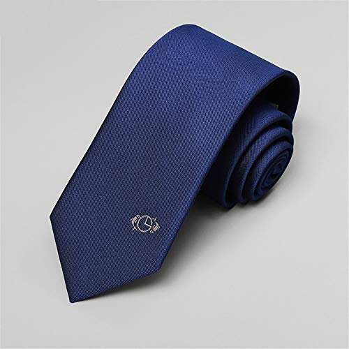 Wangwang454 Echte Männer Fische Blau Einfache Lässige Kleidung Business Krawatte Männlich 148Cm * 7Cm -