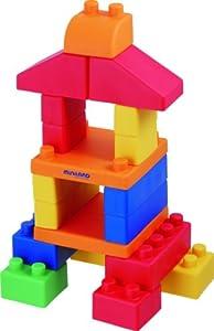 Miniland 94110 Gummi Blocks - Juego de construcción con bloques flexibles, 28 piezas Importado de Alemania
