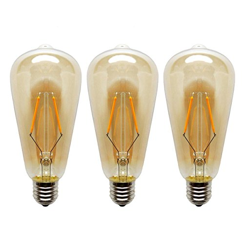 3 Stück LED Edison Glühbirne ST64 4W ersetzt 40W 220V-240v E27 Warmweiß(2700 Kelvin) Dimmbar Retro Licht Beleuchtung Leuchtmittel Energiesparlampen (8)
