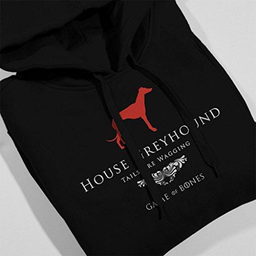 House Greyhound Game Of Thrones Inspired Women's Hooded Sweatshirt Black