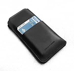 Chalk Factory Genuine Leather Case with Card Slot for Intex Aqua Dream Mobile Phone (#DBL, Black)