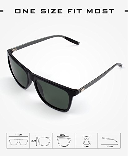 417553bc42 GQUEEN Gafas de sol polarizadas Clásico Retro para Hombre y Mujer ...