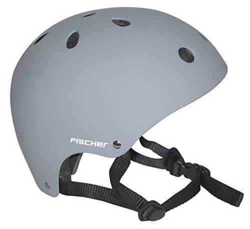 Fischer BMX Fahrrad Skater Helm (Grau, S)