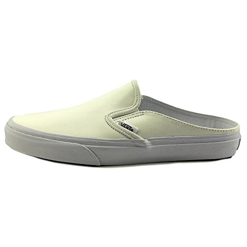 Vans Classic Slip-On Mule, Baskets Basses Mixte Adulte Blanc (Leather/White/True White)