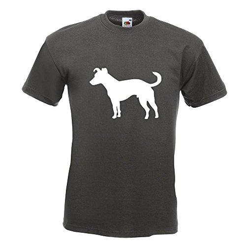 KIWISTAR - Jack Russell Hund Terrier T-Shirt in 15 verschiedenen Farben - Herren Funshirt bedruckt Design Sprüche Spruch Motive Oberteil Baumwolle Print Größe S M L XL XXL Graphit