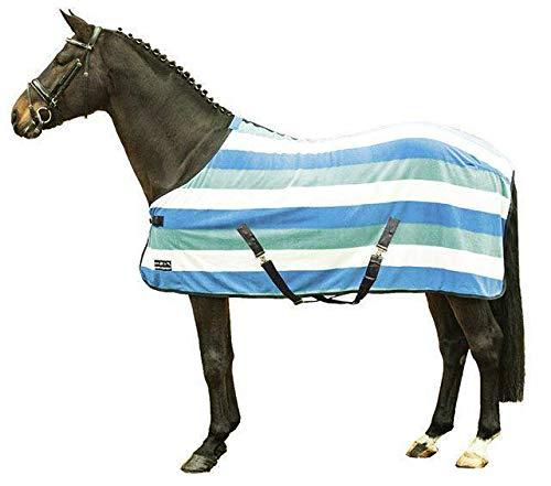 HKM 550801 Abschwitzdecke fashion stripes mit Kreuzgurt, L