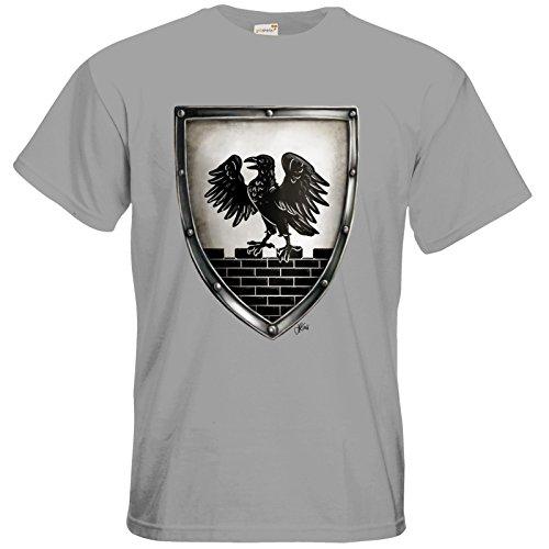 getshirts - Das Schwarze Auge - T-Shirt - Die Siebenwindküste - Wappen - Winhall pacific grey