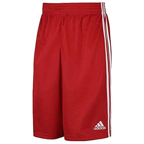 Adidas g7663715 pantaloncini da basket da giovani, rosso/bianco, 164