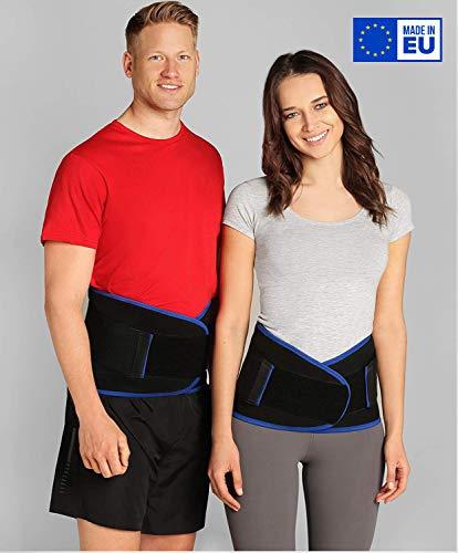 ®BeFit24 Premium Rückenbandage Lendenwirbel für Herren und Damen - Ischias-Bandage - Stützgürtel Lendenwirbelsäule - Rückenstützgürtel - [ Size 5 - Schwarz ]