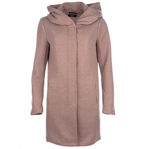 ONLY Damen onlSEDONA Light Melange Coat CC OTW Mantel, Braun (Mocha Mousse Detail:Melange), 36 (Herstellergröße: S) -
