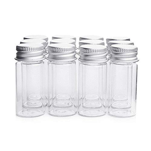 Danmu Art Ampullen klar Glas Flaschen Candy Flasche mit Aluminium Schraube Top Gläser Kleine Container , 10ml