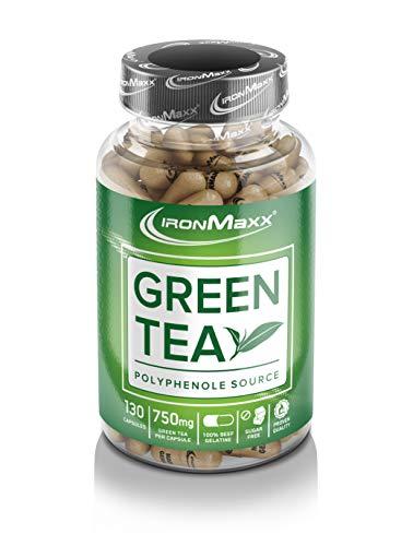 IronMaxx Green Tea - Grüntee-Extrakt in Kapseln - 1 x 130 Kapseln (115,4g)