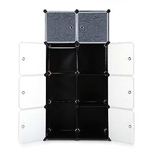 IKAYAA DIY Armoire Penderie Cubes Plastiques PP Imprimé