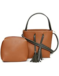 Alvaro Castagnino Brown Colored Sling Bag With Pouch For Women