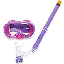 KING DO WAY Set per Snorkeling Bambino kit Maschera Secco Boccaglio Set Maschera Subacquea Tubo (Snorkel Flessibile)