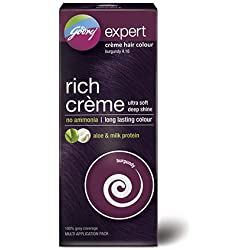 Godrej Expert Rich Crème Hair Colour, Burgundy, 62+50ml (Multi Application Pack)