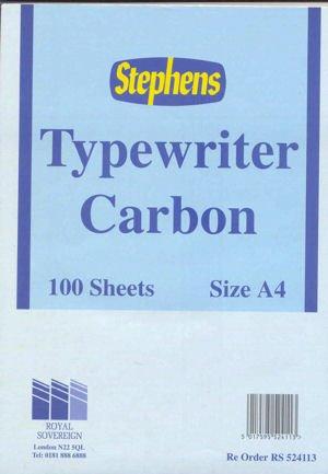 Stephens RS524113 Kohlepapier für Schreibmaschinen, 100 Blatt, schwarz