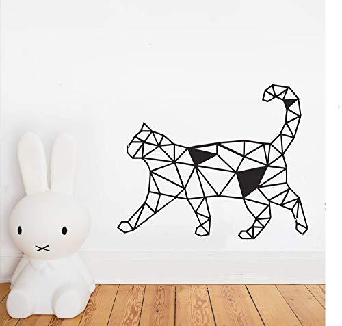 Preisvergleich Produktbild zxddzl Geometrische Katze Design Tier Wandaufkleber Art Home Dekorative Wandtattoo Für Schlafzimmer Kinderzimmer Schöne Katze Wandkunst PosterCM 89x72cm